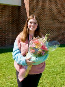 Photo of Rhiannon Cass, the 2021 Blakesley Eighth Grade Scholarship winner.